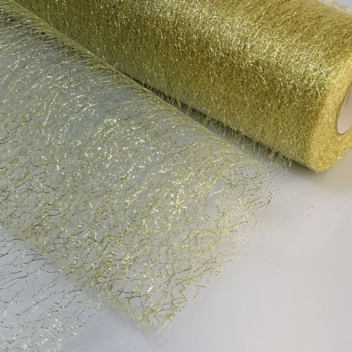 Gold Spider Metallic Soft Tulle | S
